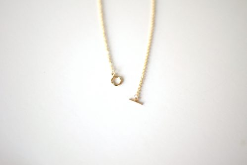 Collier T-Bar or 18K