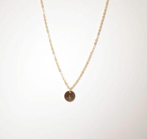 chaine or 18k medaillon personnalisé