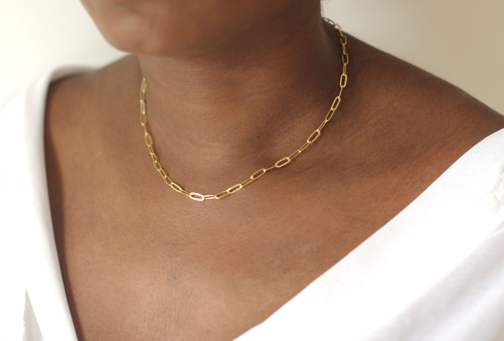simple paperclip chain16in