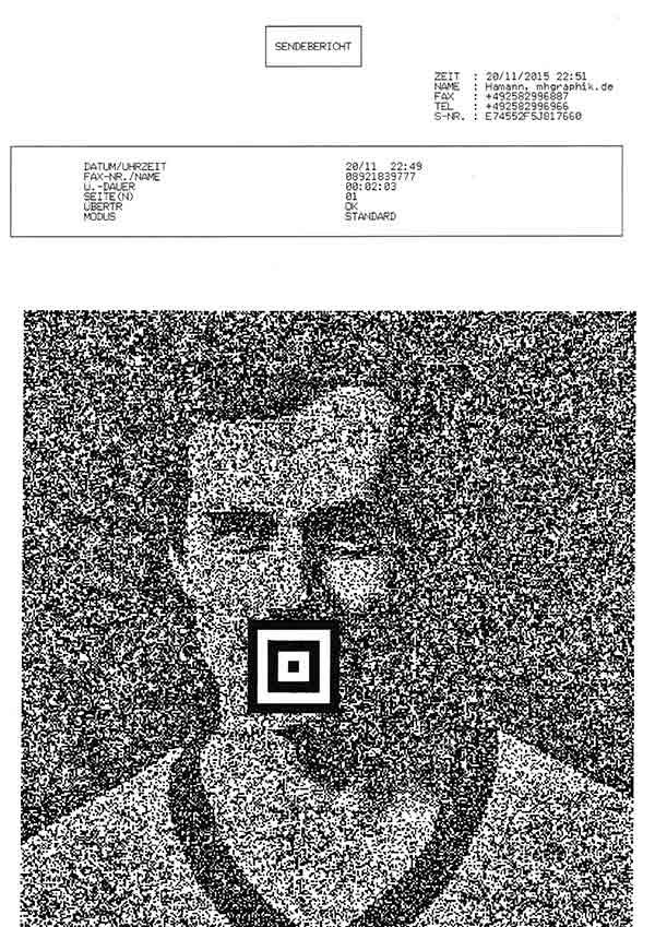 Serie: Faxen, 2015-2017, Schwarzweißdrucke, 29 x 21 cm
