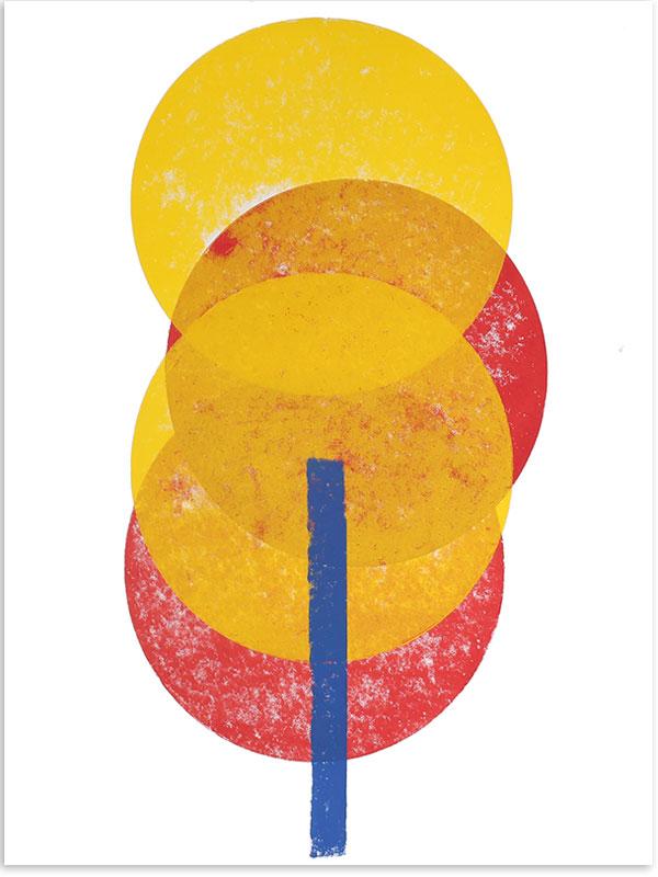 Illumination, 2018, Linoldruck, 46 x 32 cm