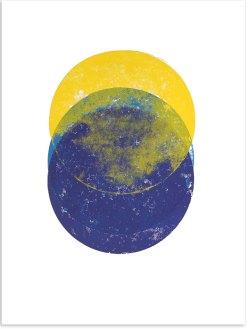 Interferenz, 2018, Linoldruck, 32 x 46 cm