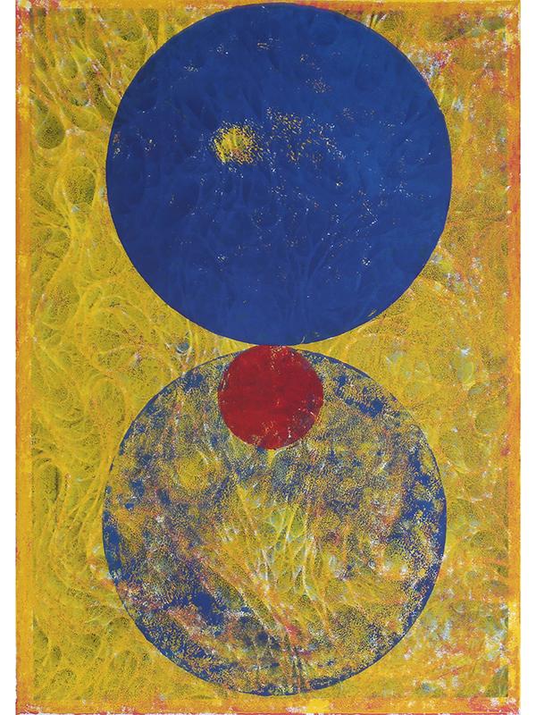 Intransitive Symmetrie, 2019, Linoldruck auf Digitaldruck, 42 x 29,7 cm