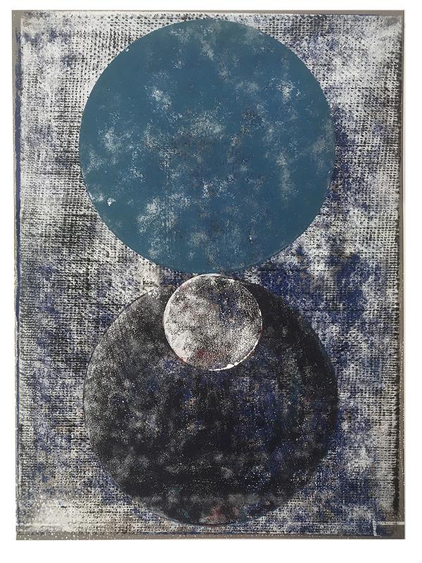 Orbes, 2019, Linoldruck, 41 x 31,5 cm