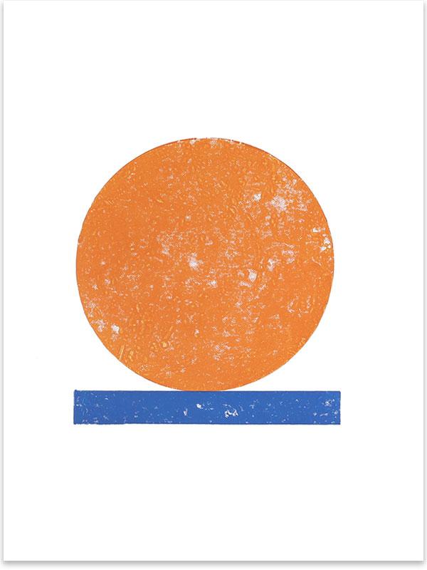 Unbenannt, 2018, Linoldruck, 46 x 32 cm