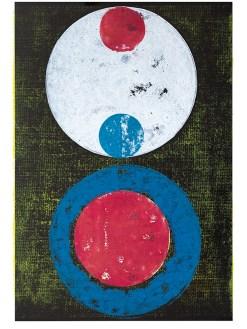 Titan, 2019, Linoldruck auf Digitaldruck, 46 x 32 cm