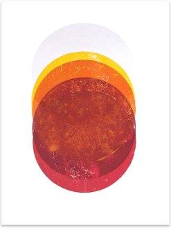 Vulkanus, 2018, Fett- und Linoldruck, 46 x 32 cm