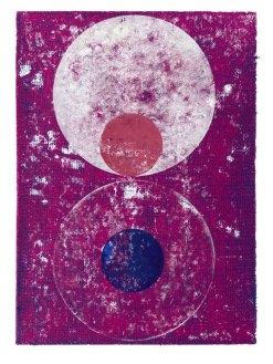 Lux Aeterna, 2020, Linoldruck, 46 x 32 cm