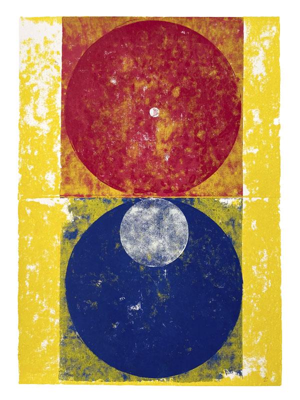 Orbes, 2020, Linoldruck, 46 x 32 cm