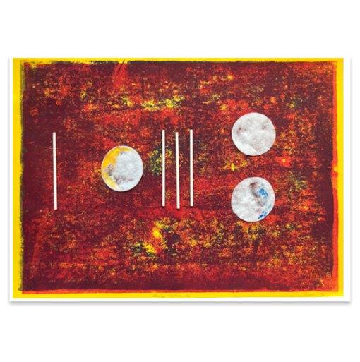Kleine Nachtmusik, 2021, Assemblage, 32 x 45,5 cm