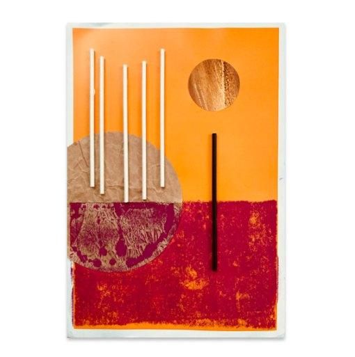 Sole ad vesperam, 2021, Assemblage, 45,5 x 32 cm