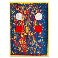 Maske, 2021, Assemblage, 45,5 x 32 cm