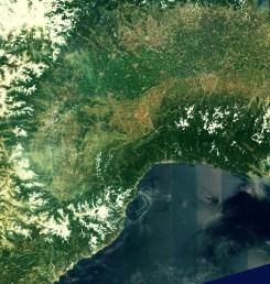 Sentinel-2A: północne Włochy i południowa Francja sfotogradowane 27 czerwca 2015 o 10:25 UTC / Credit: Copernicus data (2015)/ESA