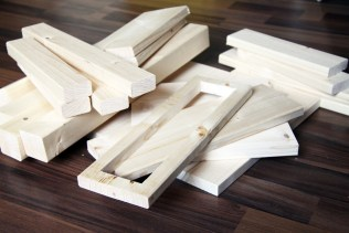 Holz für den Hocker