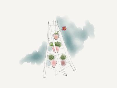 Blumenetagere