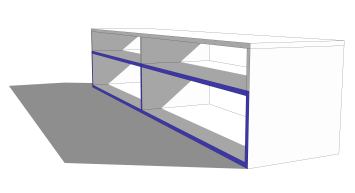 TV-Sideboard fräsen