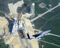 Stíhačka F-15 nad komplexem 39