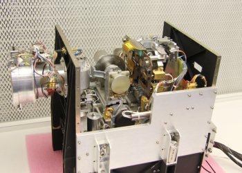 Vnitřní struktura detektoru MIDAS Kredit: ESA/Mark Bentley/Institut für Weltraumforschung, Österreichische Akademie der Wissenschaften, Graz, Austria.