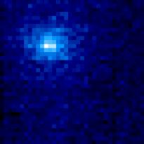Snímek komety palubním spektrometrem IUVS