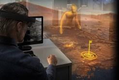 A takto při použití HoloLens a OnSight zdroj:jpl.nasa.gov
