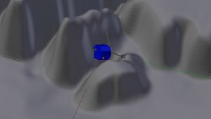 Pravděpodobná orientace pouzdra Philae