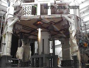 Zážeh pomocného motoru 4-RD-11 ze srpna
