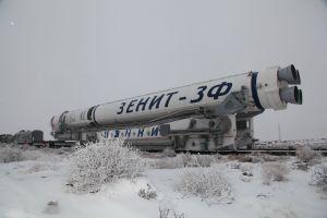 Na Bajkonuru je v těchto dnech opravdu zima.