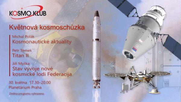 Pozvánka na květnovou kosmoschůzku zdroj: klub.kosmo.cz