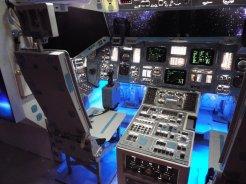 Kabina raketoplánu, horní paluba