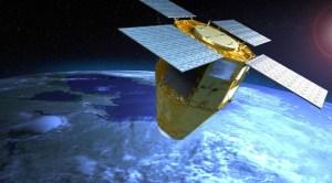 Vizualizace družice systému CSO.