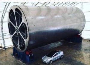 Zařízení k výrobě těla rakety BFR.