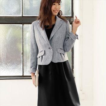 凹凸素材のスラブラメファンシー3点スーツ