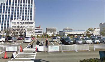 名古屋港水族館の周辺にあるガーデンふ頭駐車場