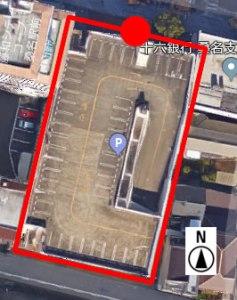 上から見た市営末広駐車場