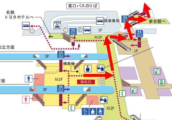 豊田市駅のマップ