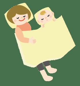 赤ちゃんと眠る