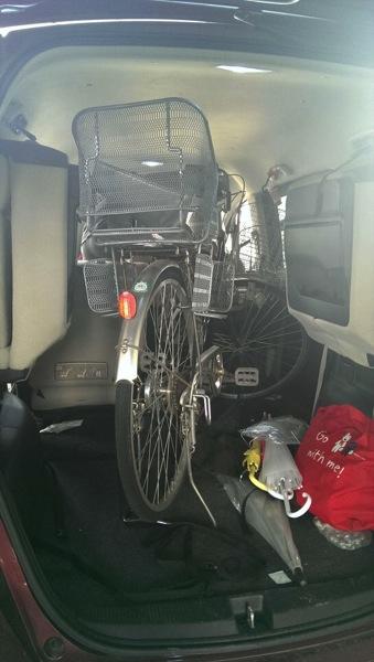 自転車 車 フリード