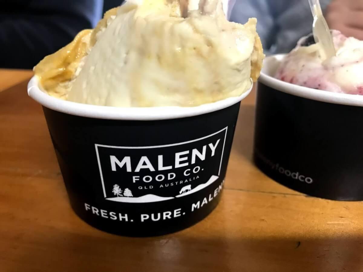 サンシャインコーストの美味しいアイスクリーム屋さん《MALENY》のアイスクリームの写真