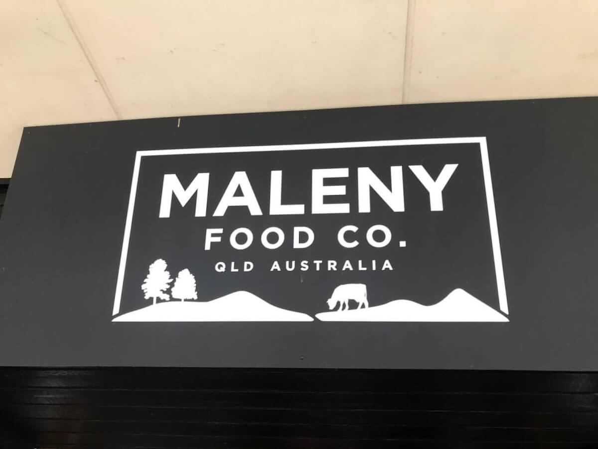 サンシャインコーストのマレーニーにある美味しいアイスクリーム屋さんのサインの写真