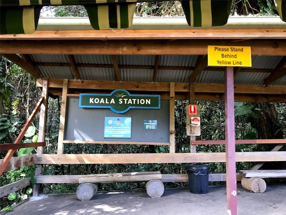 ビッグパイナップル園内 動物園 WILDLIFE HQ の到着駅