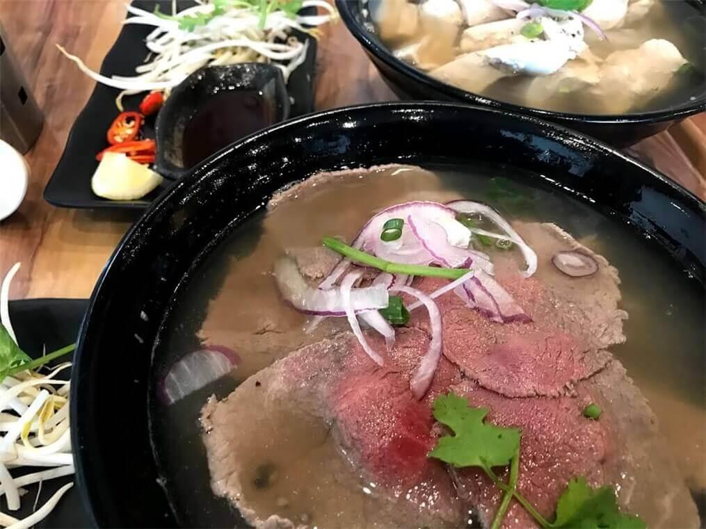 バンダバーグのベトナムレストランで食べたヌードルの写真