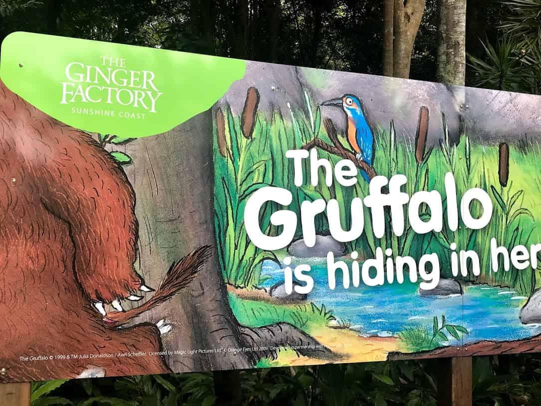 ジンジャーファクトリーで行なわれている催し物『Gruffalo』 のサインを写した写真