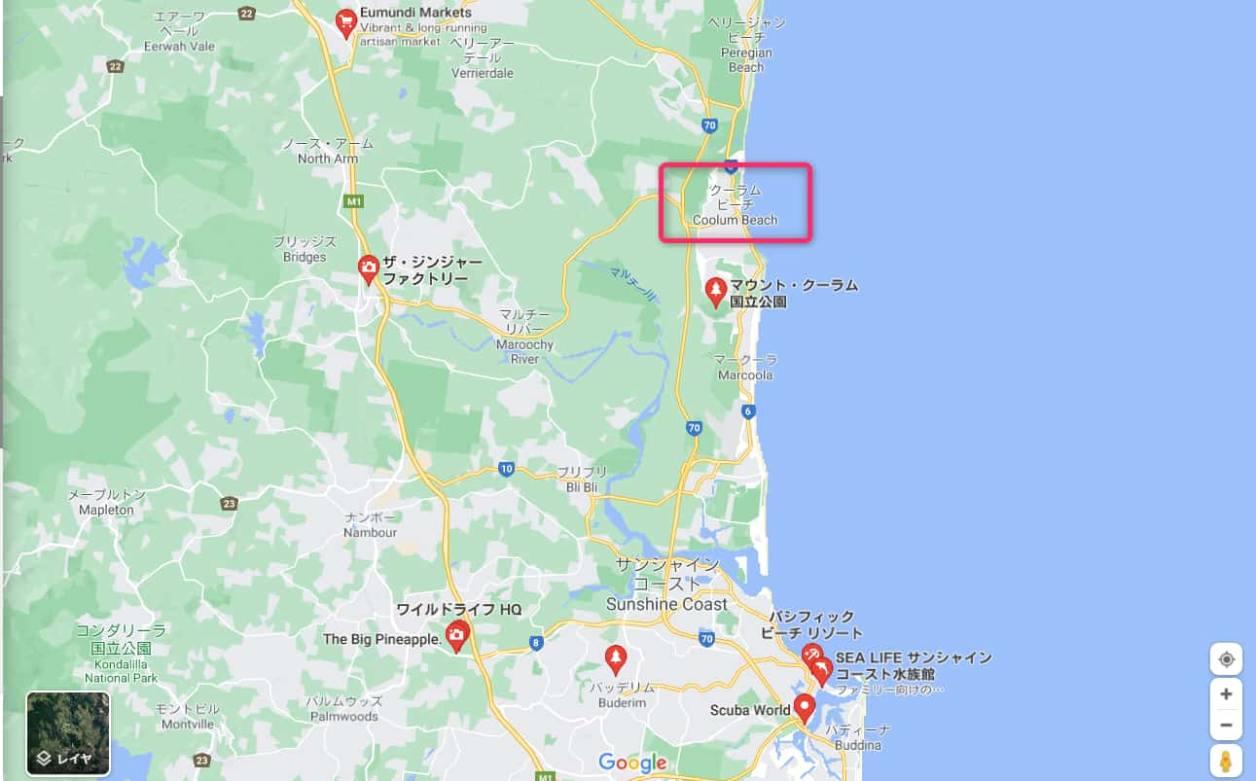 map-around-coolum-beach-in-sunshine-coast
