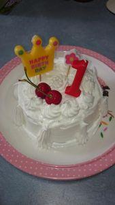 ケーキ 1歳