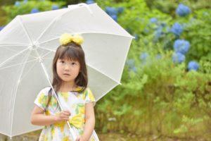 雨の日 女の子 傘