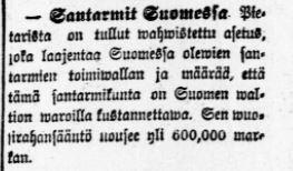 Tämän kuvan alt-attribuutti on tyhjä; Tiedoston nimi on Santarmit-Suomessa.jpg