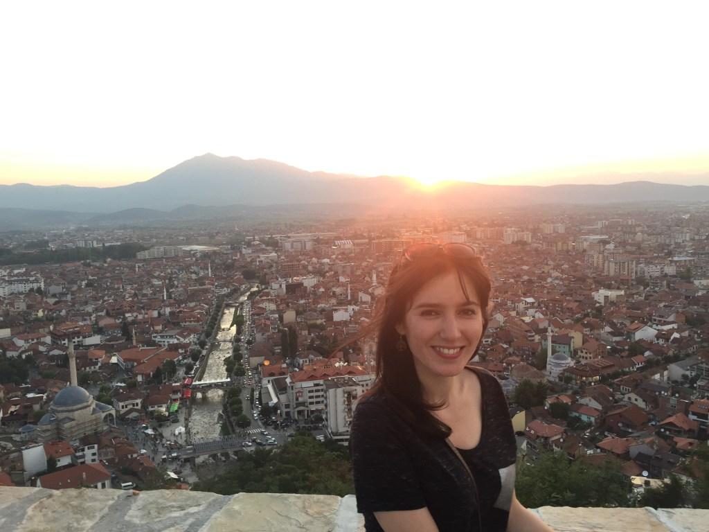 At the Prizren Castle, Kosovo