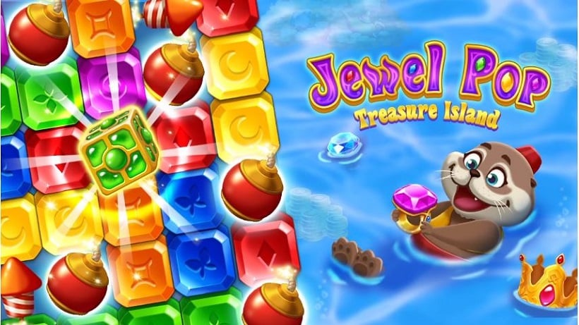 Jewel Pop: Treasure Island ist so gut wie Toy Blast