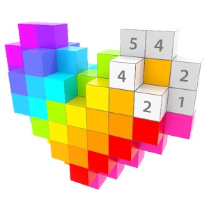 Voxel - 3D Zahlen Malbuch