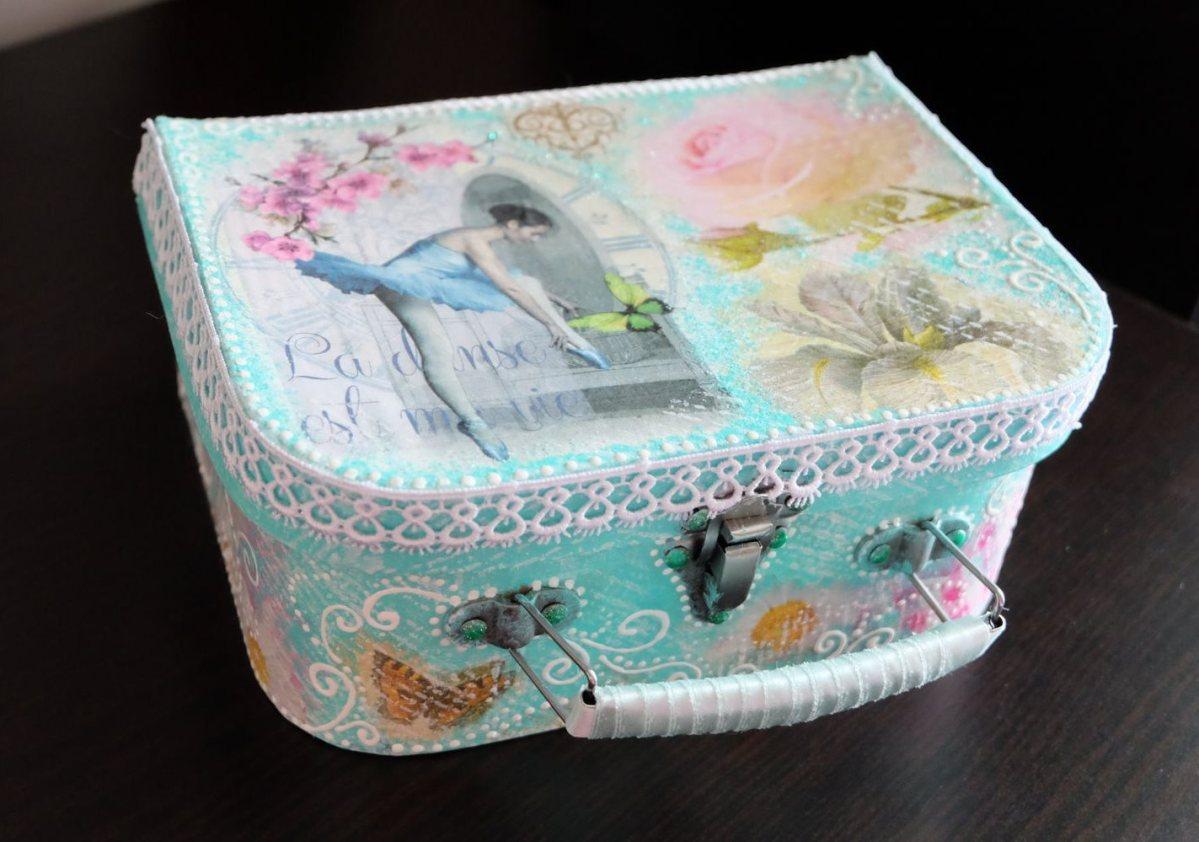 Шкатулка — чемоданчик для украшений «Нежная мята»